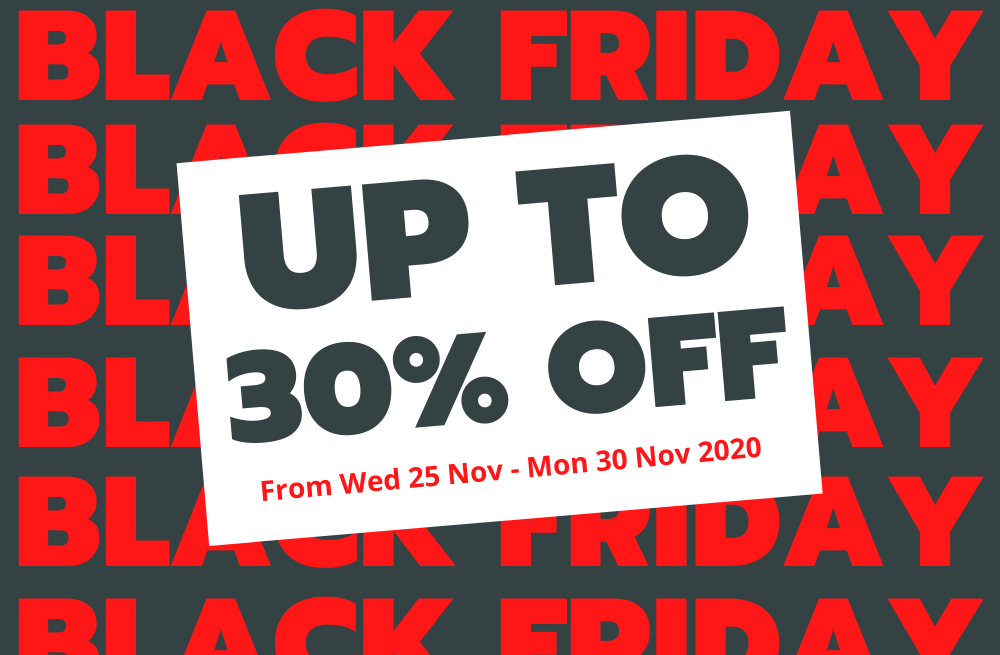 Up To 30% Off This Black Friday Weekend